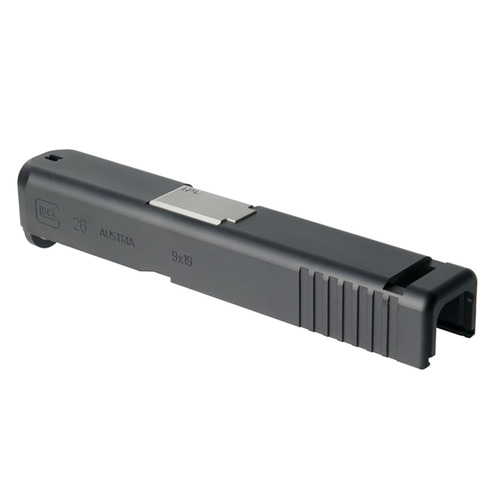Glock 26 Slide Set for Aluminum Black/Silver Barrel