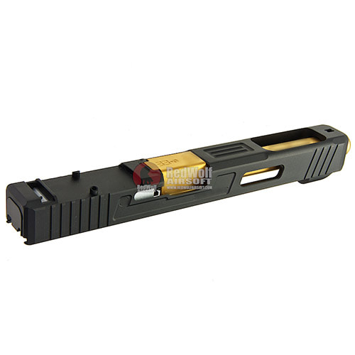 Guns Modify SA G34 + RMR Slide with Stainless Steel Gold Barrel for Tokyo Marui G17 / G18C GBB Ver.2