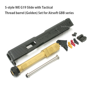 S-style WE G19 Slide with Tactical Thread barrel (Golden) Set for Airsoft GBB series