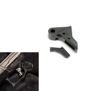 Bomber FI-style CNC Aluminum Trigger for Marui / WE / VFC Airsoft G17/22/34 GBB series - Black