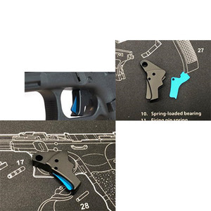 Bomber AP-style CNC Aluminum Trigger for Marui / WE / VFC Airsoft GK GBB series - Black / Blue