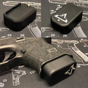 Bomber CNC Aluminum ( Standard ) Magazine Pad Extension for Marui G17/18/26/34 GBB Magazine - Black