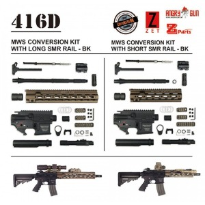 Angry Gun Aluminum 416D MWS Conversion Kit with Z-parts 10.5inch SMR Rail - Black (Cerakote Coating)