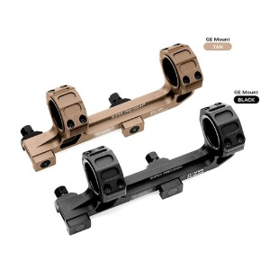 One piece bubble level picatiny rail dual ring mount dffset scope mount [BK / TAN]
