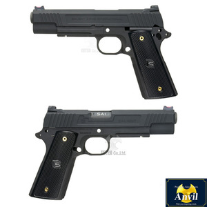 SAI 1911 5inch Slide & Frame Set for Marui MEU-Aluminum Black